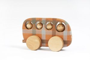 handmade wooden toy bus