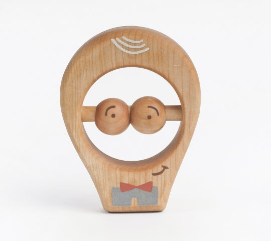 Organic wooden baby teething toy is quality crafted by hand and sanded satin smooth.  All materials we use are 100% natural and safe for baby.