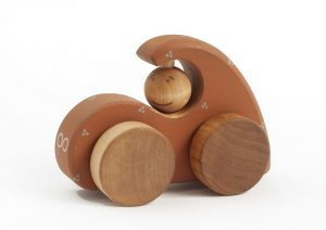 wooden car, organic wooden toy