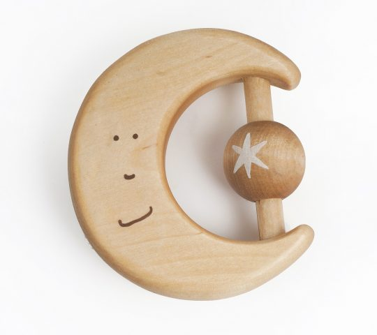 This handmade wooden teething toy is quality crafted by hand and sanded satin smooth.  All materials we use are 100% natural and safe for baby.