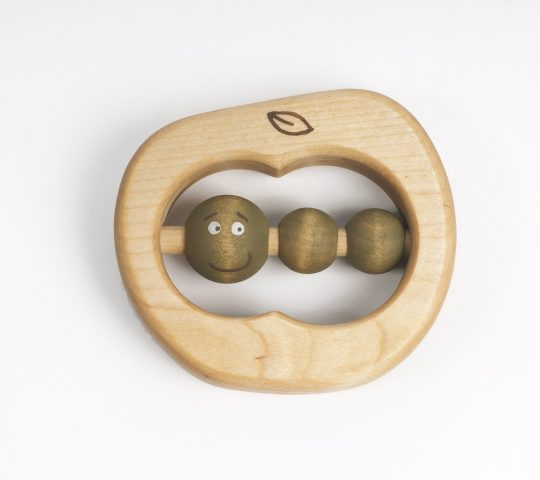 This organic wooden teething ring is quality crafted by hand and sanded satin smooth.  All materials we use are 100% natural and safe for baby.
