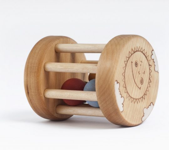 This organic wooden baby rattle toy is quality crafted by hand and sanded satin smooth.  All materials we use are 100% natural and safe for baby.